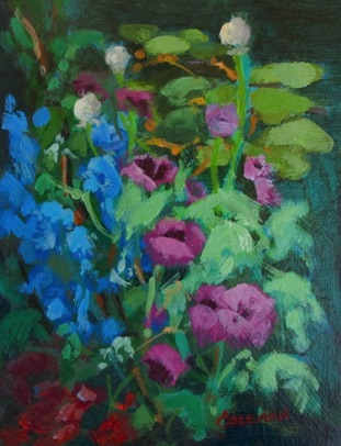Pond Poppies Acrylic 4.5x6.5