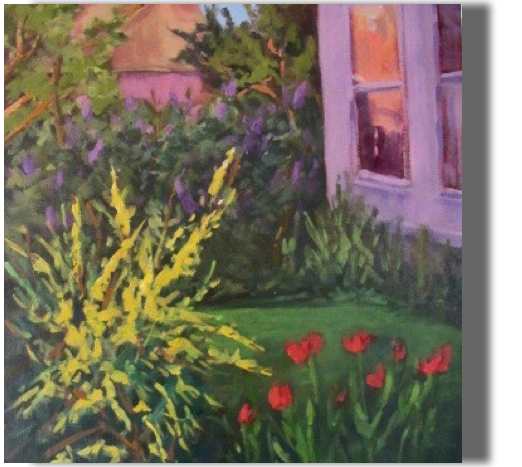 Afternoon Delight 16x20 - $350 - Studio Monhegan back yard, late afternoon