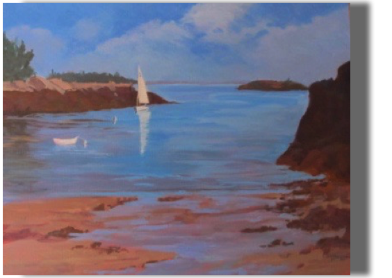 Safe Harbor 20x24 - $475 - Gallery Henrick's Head Lighthouse, West Southport, ME