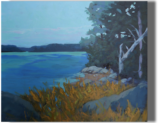 Late Summer Soliloquy 20x24 - $500 - Gallery Sheepscot River
