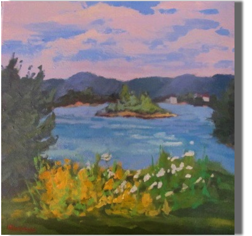 Summers at the Lake  12x12 - $300  Memories from the heart