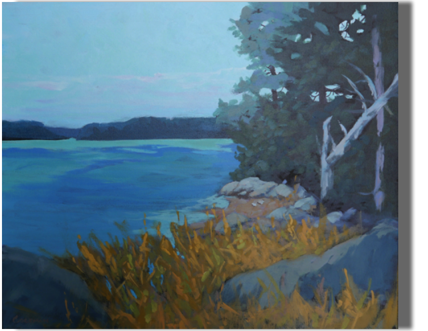 Late Summer Soliloquy 20x24 - $500 Sheepscot River