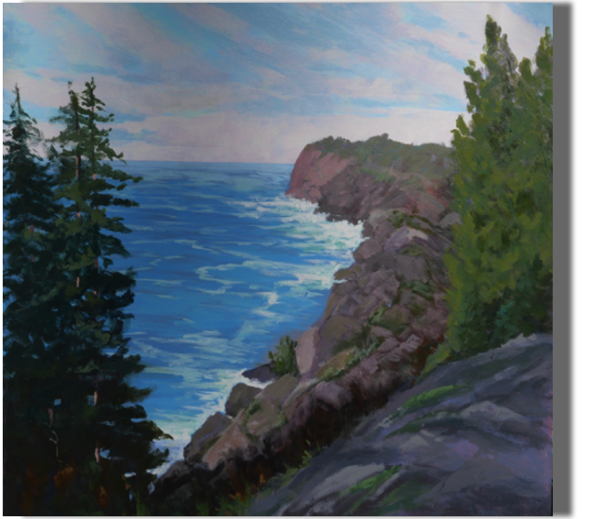 Finding Solace 30x30 - $1,300 Whitehead, Monhegan Island